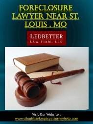 Foreclosure Lawyer Near St. Louis , Mo