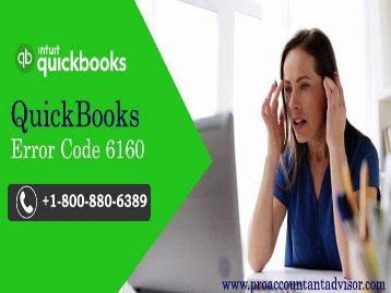 How to Fix QuickBooks Error Code 6160