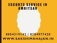 Amritsar Escorts   Independent girls escort service