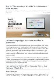 tvisha.com-Top 10 Office Messenger Apps like Troop Messenger Slack and Twist