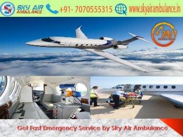 Receive ICU Service in Raigarh by Sky Air Ambulance