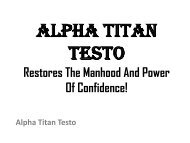 Alpha Titan Testo : Make Your Relationship Much Better Then Before