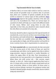 top essential oils for face in Delhi INCR India
