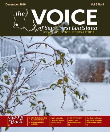 The Voice of Southwest Louisiana December 2018 Issue