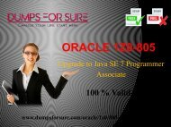Oracle 1Z0-805 Dumps