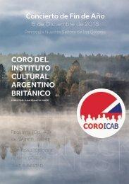 Concierto del Coro ICAB - Programa 2018