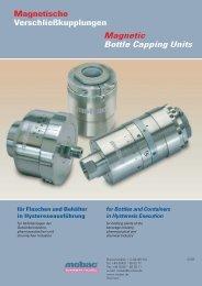 Magnetische Verschließkupplungen Magnetic Bottle ... - Mobac GmbH