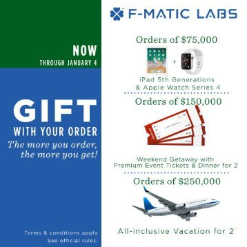FMATIC Labs 2018 Holiday Promo