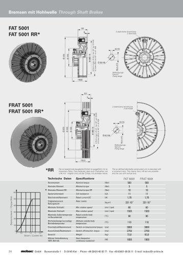 FAT 5001 FAT 5001 RR* FRAT 5001 FRAT 5001 RR - Mobac GmbH