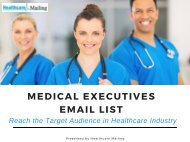 Medical Executives Mailing List