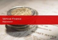 Mediadaten Vertical Finance - Tomorrow Focus Media