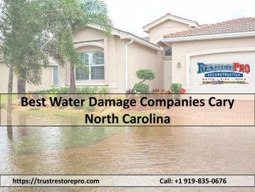 Best Water Damage Companies Cary North Carolina