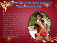 BOOKING A CHRISTMAS RUSSIAN ESCORTS IN PUNE