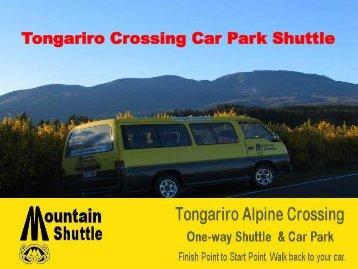 Tongariro Alpine Crossing Shuttle Car Park