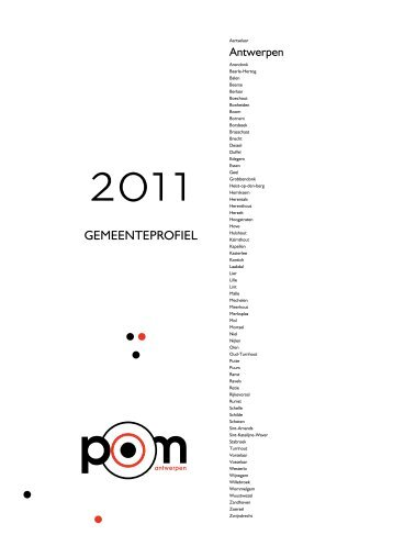 Starters gemeente Antwerpen (per kwartaal) - POM Antwerpen