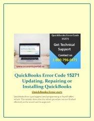 1-800-796-0471 QuickBooks Error Code 15271 Updating, Repairing or Installing QuickBooks