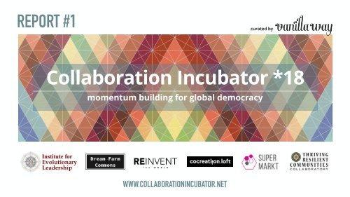 Collaboration Incubator *18 Report #1