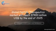 Global Peptide Therapeutics market will reach 37400 million US$ by the end of 2025