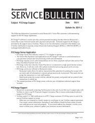 Subject: PCCharge Support Date: 5/6/11 Bulletin No ... - Brunswick