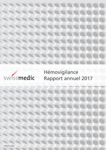 Swissmedic Hémovigilance – Rapport annuel 2017