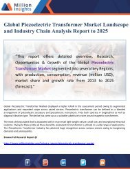 Global Piezoelectric Transformer Market Landscape and Industry Chain Analysis Report to 2025