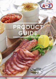 A to Z Catering Product Guide 2018