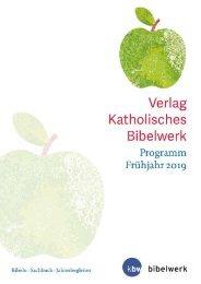 Verlag Kath. Bibelwerk Programm Frühjahr 2019