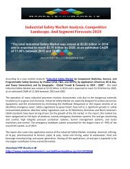 Industrial Safety Market Analysis, Competitive Landscape, And Segment Forecasts 2020