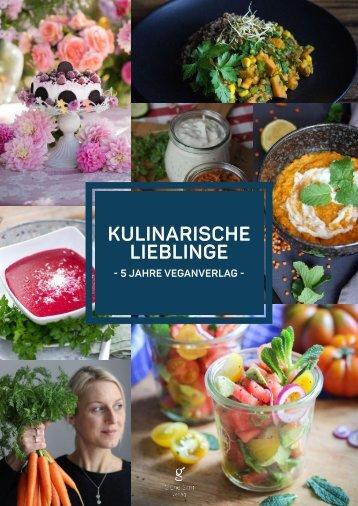 Kulinarische Lieblinge - 5 Jahre Veganverlag