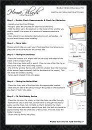 How to install Roller Blinds