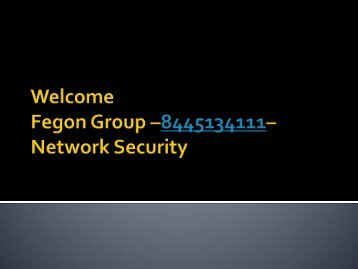 Fegon Group - 8445134111 - Network Security Solutions