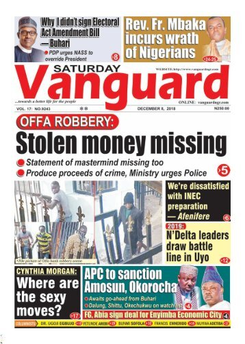 08122018 - Offa Robbery: Stolen money, guns not accounted for
