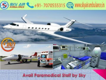 India's Best ICU Air Ambulance from Mumbai by Sky