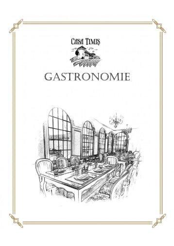 Conacul Casa Timis - Meniu Gastronomie Restaurant