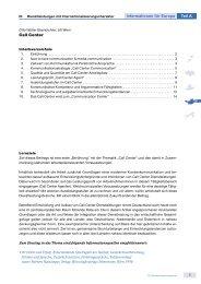 Call Center 1 Informationen für Europa Teil A - EU-EQT
