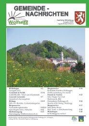 GEMEINDE - NACHRICHTEN - Wolfsegg am Hausruck