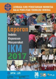 LAPORAN IKM BPTM - LIPI TAHUN 2017