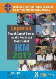 LAPORAN TINDAK LANJUT IKM BPTM - LIPI TAHUN 2017
