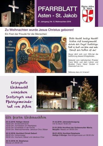 Pfarrblatt Asten 2018 Weihnachten