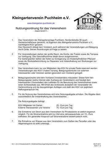 Kleingartenverein Puchheim e.V. - Kleingarten Puchheim e