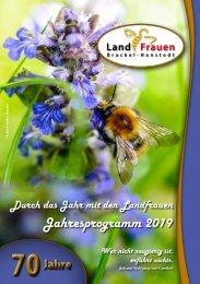 Landfrauen Brackel-Hanstedt  Programm 2019