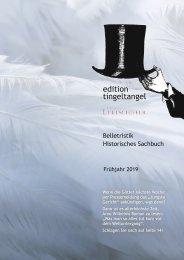 edition tingeltangel / Edition Luftschiffer Verlagsvorschau Frühjahr 2019
