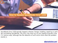 How to Resolve QuickBooks Error 1328