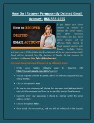 How To Recover Deleted Gmail Account-8665584555