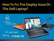 How To Fix The Display Issue On The