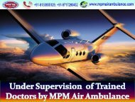 Very Affordable pricing by MPM Air Ambulance Service from Silchar