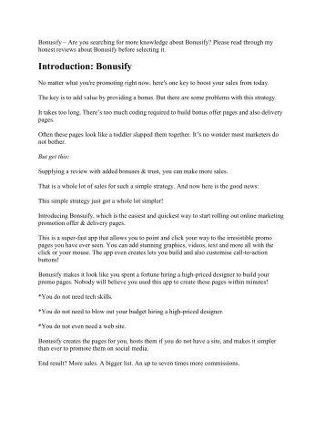 Bonusify Review