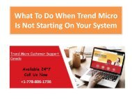 What To Do When Trend Micro Is Not Starting On Your System