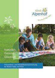 Klinikprospekt Klinik Alpenhof 12-2018