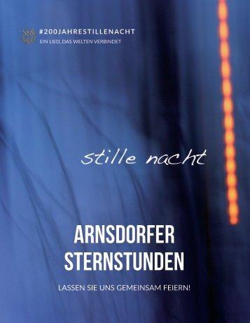 """#ArnsdorferSternstunden im Jubiläumsjahr """"200 Jahre Stille Nacht"""""""